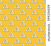 retro triangles pattern.... | Shutterstock .eps vector #599254559