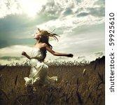 portrait of romantic woman... | Shutterstock . vector #59925610