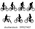 drawing bicycle races leisure | Shutterstock . vector #59927407