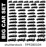 Stock vector silhouette car set 599280104