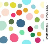 seamless pattern with hand... | Shutterstock .eps vector #599281337