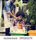 african descent kid separating... | Shutterstock . vector #599282279