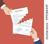 contract termination concept.... | Shutterstock . vector #599286449