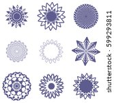 lace classic calligraphy... | Shutterstock .eps vector #599293811