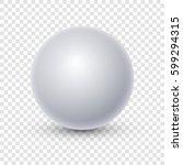 white sphere isolated on...   Shutterstock .eps vector #599294315
