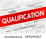 qualification word cloud ... | Shutterstock . vector #599294567
