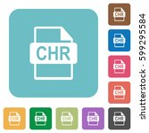chr file format white flat... | Shutterstock .eps vector #599295584