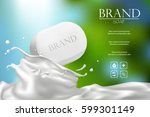 soap advertisement design.... | Shutterstock .eps vector #599301149