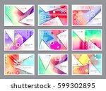 business brochure design ... | Shutterstock .eps vector #599302895