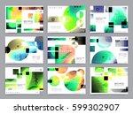 business brochure design ... | Shutterstock .eps vector #599302907