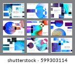 business brochure design ... | Shutterstock .eps vector #599303114