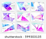 business brochure design ... | Shutterstock .eps vector #599303135