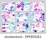business brochure design ... | Shutterstock .eps vector #599303261