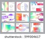 business brochure design ... | Shutterstock .eps vector #599304617