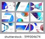 business brochure design ... | Shutterstock .eps vector #599304674