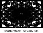 grunge black and white urban... | Shutterstock .eps vector #599307731