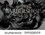 barbershop poster promo with... | Shutterstock .eps vector #599308559
