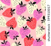 seamless pattern with... | Shutterstock .eps vector #599310017