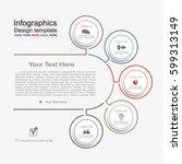 infographic design template... | Shutterstock .eps vector #599313149