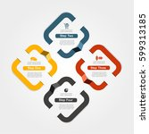 infographic design template... | Shutterstock .eps vector #599313185