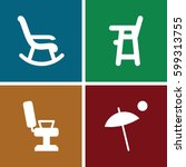 chair icons set. set of 4 chair ...