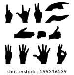 silhouettes of hands   stock... | Shutterstock .eps vector #599316539