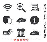 free wifi wireless network... | Shutterstock .eps vector #599317985