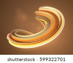 orange abstract twisted shape.... | Shutterstock . vector #599322701