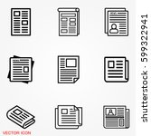 newspaper icons | Shutterstock .eps vector #599322941