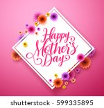 happy mothers day typography... | Shutterstock .eps vector #599335895
