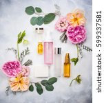 set of skin care product and... | Shutterstock . vector #599337581