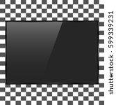 tv  modern with empty black... | Shutterstock .eps vector #599339231