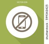 no phone vector icon. | Shutterstock .eps vector #599343425