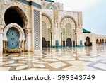 detail of hassan ii mosque in... | Shutterstock . vector #599343749