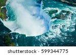 niagara falls  canadian side.... | Shutterstock . vector #599344775