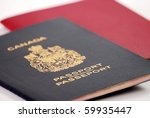 canadian passport | Shutterstock . vector #59935447