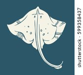stingray icon isolated. vector... | Shutterstock .eps vector #599358437