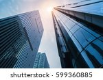 low angle view of modern... | Shutterstock . vector #599360885
