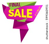 sale label price tag banner... | Shutterstock .eps vector #599360951