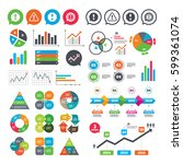 business charts. growth graph.... | Shutterstock .eps vector #599361074
