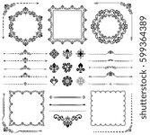 vintage set of classic elements.... | Shutterstock . vector #599364389