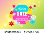 up to 70  spring sale with... | Shutterstock .eps vector #599364731
