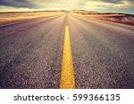 color toned highway lane at... | Shutterstock . vector #599366135