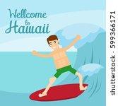 hawaiian poster | Shutterstock .eps vector #599366171