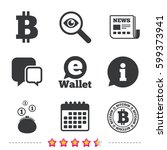 bitcoin icons. electronic... | Shutterstock .eps vector #599373941
