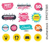 sale shopping banners. special... | Shutterstock .eps vector #599375585