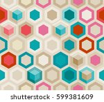 abstract seamless background of ... | Shutterstock .eps vector #599381609