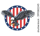 eagle emblem isolated on white... | Shutterstock .eps vector #599382245