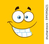 smiling cartoon square... | Shutterstock . vector #599390621