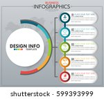 infographic business horizontal ... | Shutterstock .eps vector #599393999